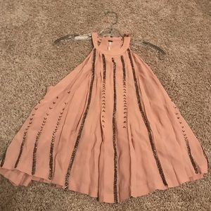 Nude/Pinkish Sequin Free People Top